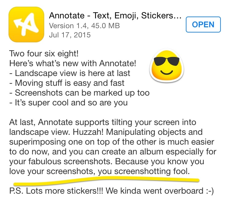 Annotate release notes