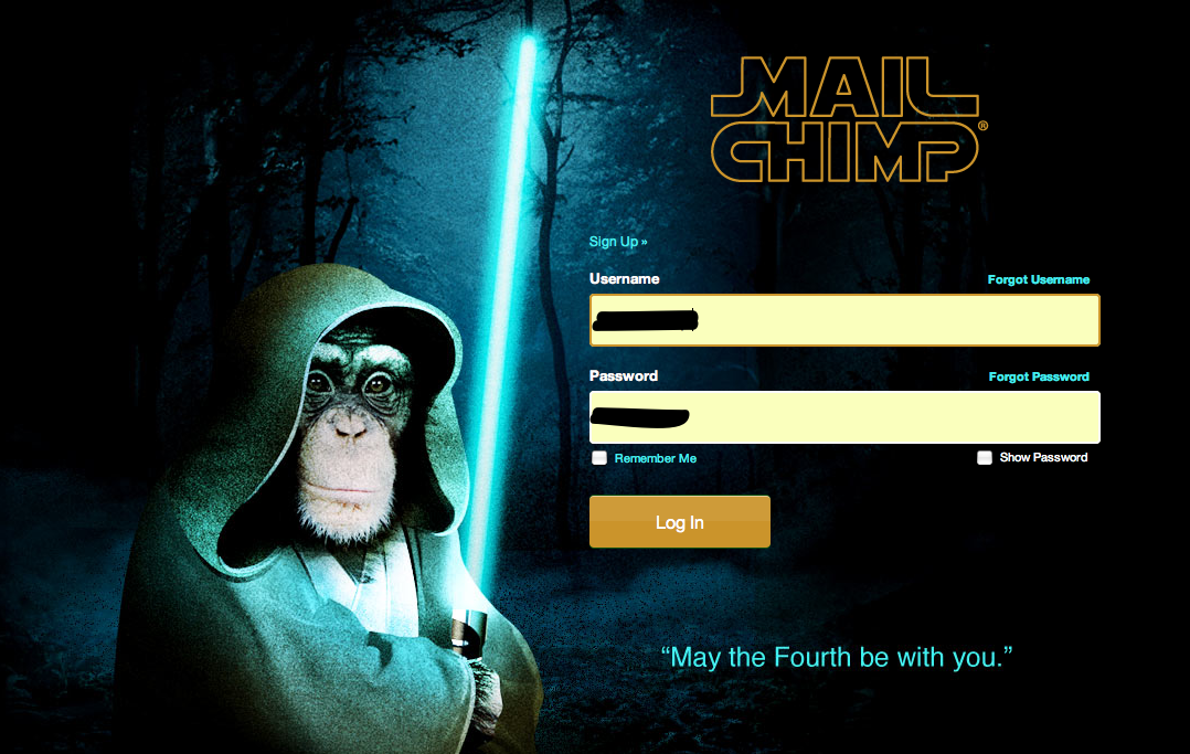 Mailchimp Star Wars day